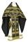 Russian Priest vestments - Nativity Star metallic brocade B (black-gold), Standard design