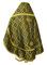 Russian Priest vestments - Nicholaev metallic brocade B (black-gold) back, Standard design