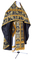 Russian Priest vestments - Koursk metallic brocade B (black-gold), Standard design