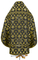 Russian Priest vestments - Loza metallic brocade B (black-gold) (back), Standard design