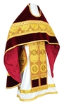 Russian Priest vestments - metallic brocade B (yellow-claret-gold)