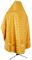 Russian Priest vestments - Poutivl' metallic brocade B (yellow-gold) back, Standard design