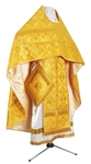Russian Priest vestments - metallic brocade B (yellow-gold)