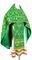 Russian Priest vestments - Loza metallic brocade B (green-gold), Standard design