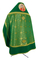Russian Priest vestments - Corinth metallic brocade B (green-gold) with velvet inserts, Premium design