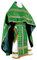 Russian Priest vestments - Izborsk metallic brocade B (green-gold) back, Premium design