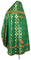 Russian Priest vestments - Izborsk metallic brocade B (green-gold), Premium design