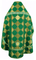 Russian Priest vestments - Kolomna metallic brocade B (green-gold), Premium design