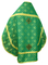 Russian Priest vestments - Mirgorod metallic brocade B (green-gold) with velvet inserts (back), Standard design