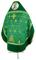 Russian Priest vestments - Belozersk metallic brocade B (green-gold) with velvet inserts (back), Standard design
