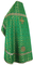 Russian Priest vestments - Cornflowers metallic brocade B (green-gold), Premium design