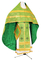 Russian Priest vestments - Vinograd metallic brocade B (green-gold) back, Standard design