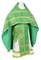 Russian Priest vestments - Floral Cross metallic brocade B (green-gold), Standard design