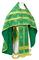 Russian Priest vestments - Mirgorod metallic brocade B (green-gold) with velvet inserts, Standard design