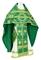 Russian Priest vestments - Nativity Star metallic brocade B (green-gold), Standard design