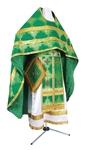 Russian Priest vestments - metallic brocade B (green-gold)