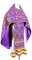 Russian Priest vestments - Loza metallic brocade B (violet-gold), Standard design
