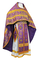 Russian Priest vestments - Old Greek metallic brocade B (violet-gold), Standard design