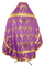 Russian Priest vestments - Vinograd metallic brocade B (violet-gold) back, Economy design