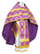 Russian Priest vestments - Myra Lycea metallic brocade B (violet-gold), Economy design