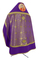 Russian Priest vestments - Corinth metallic brocade B (violet-gold) with velvet inserts (back), Standard design