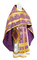 Russian Priest vestments - Polotsk metallic brocade B (violet-gold), Econom design