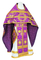 Russian Priest vestments - Nativity Star metallic brocade B (violet-gold), Standard design