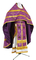 Russian Priest vestments - Czar's Cross metallic brocade B (violet-gold) with velvet inserts (back), Standard design