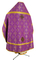 Russian Priest vestments - Custodian metallic brocade B (violet-gold), Standard design