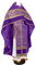 Russian Priest vestments - Czar's Cross metallic brocade B (violet-gold) with velvet inserts, Standard design