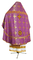 Russian Priest vestments - Polotsk metallic brocade B (violet-gold) back, Standard design