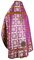 Russian Priest vestments - Izborsk metallic brocade B (violet-gold) back, Standard design