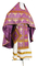 Russian Priest vestments - Custodian metallic brocade B (violet-gold) back, Premium design