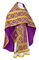 Russian Priest vestments - Nicholaev metallic brocade B (violet-gold), Standard design