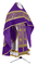 Russian Priest vestments - Corinth metallic brocade B (violet-gold) with velvet inserts, Standard design