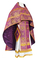 Russian Priest vestments - Vilno metallic brocade B (violet-gold), Standard design