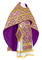 Russian Priest vestments - Byzantine metallic brocade B (violet-gold), Standard design