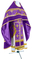 Russian Priest vestments - Belozersk metallic brocade B (violet-gold) with velvet inserts, Standard design