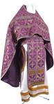 Russian Priest vestments - metallic brocade B (violet-gold)