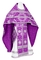 Russian Priest vestments - Nativity Star metallic brocade B (violet-silver), Standard design