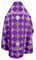 Russian Priest vestments - Kolomna metallic brocade B (violet-silver) back, Standard design