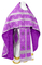 Russian Priest vestments - Mirgorod metallic brocade B (violet-silver) with velvet inserts, Standard design
