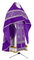 Russian Priest vestments - Corinth metallic brocade B (violet-silver) with velvet inserts, Standard design