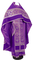 Russian Priest vestments - Czar's Cross metallic brocade B (violet-silver) with velvet inserts, Economy design
