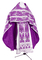 Russian Priest vestments - Vinograd metallic brocade B (violet-silver), Economy design