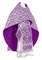 Russian Priest vestments - Byzantine metallic brocade B (violet-silver), Standard design