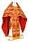 Russian Priest vestments - Nativity Star metallic brocade B (red-gold), Standard design