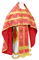 Russian Priest vestments - Mirgorod metallic brocade B (red-gold) with velvet inserts, Standard design