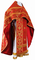 Russian Priest vestments - Czar's Cross metallic brocade B (red-gold), Standard design
