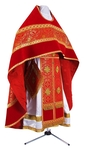 Russian Priest vestments - metallic brocade B (red-gold)